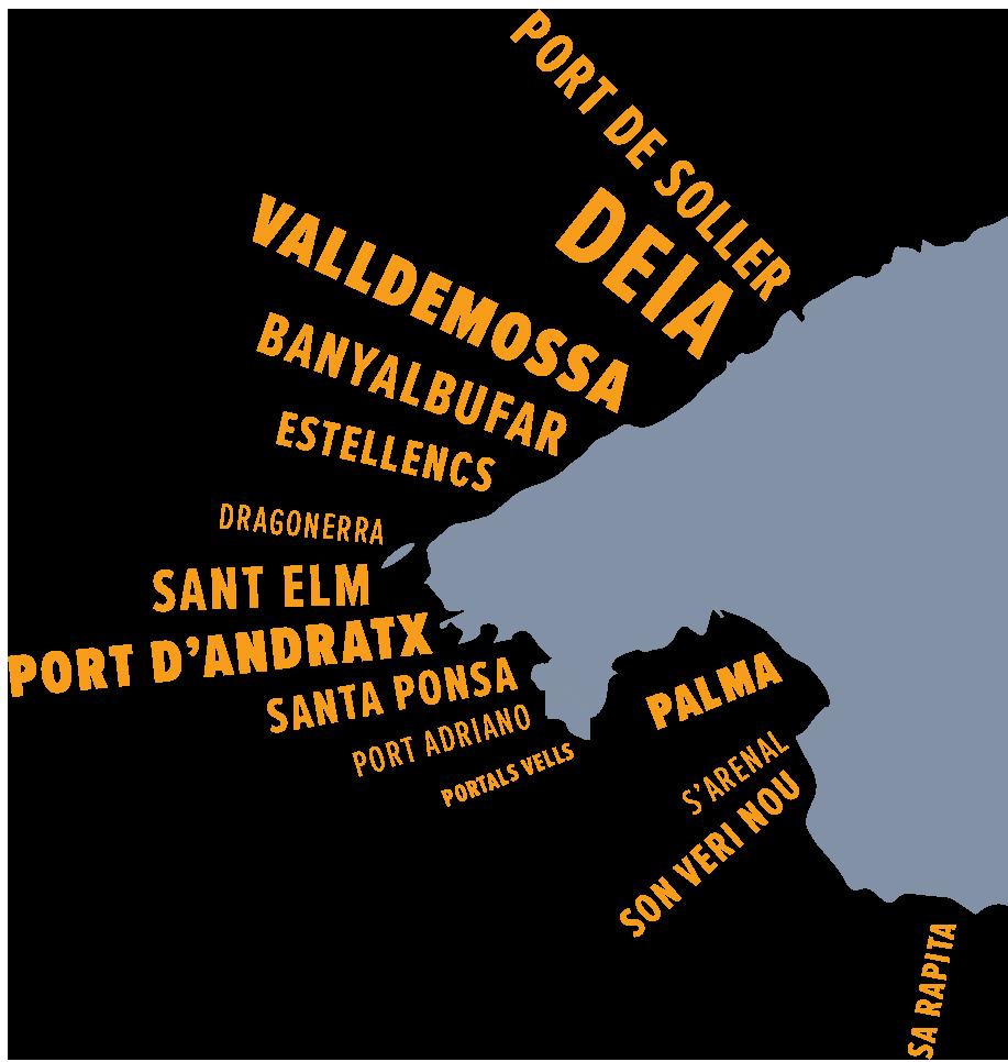 Mallorca Map of the East Coast
