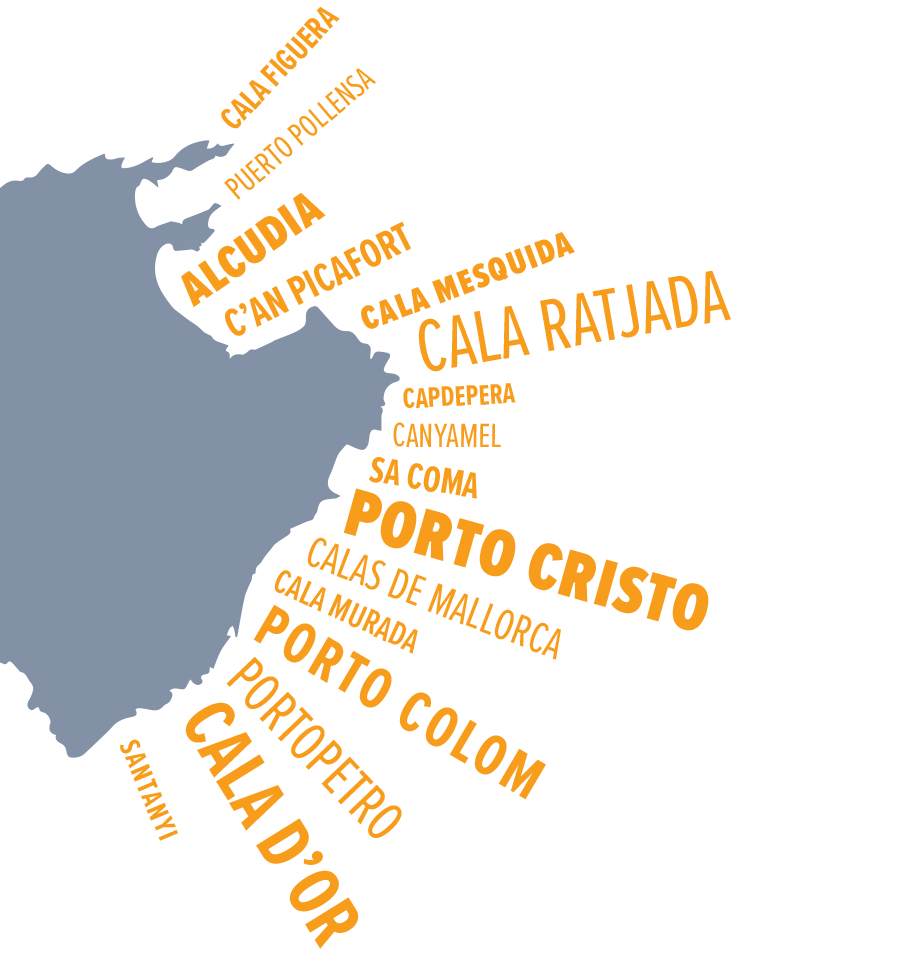 Mallorca Map of the West Coast