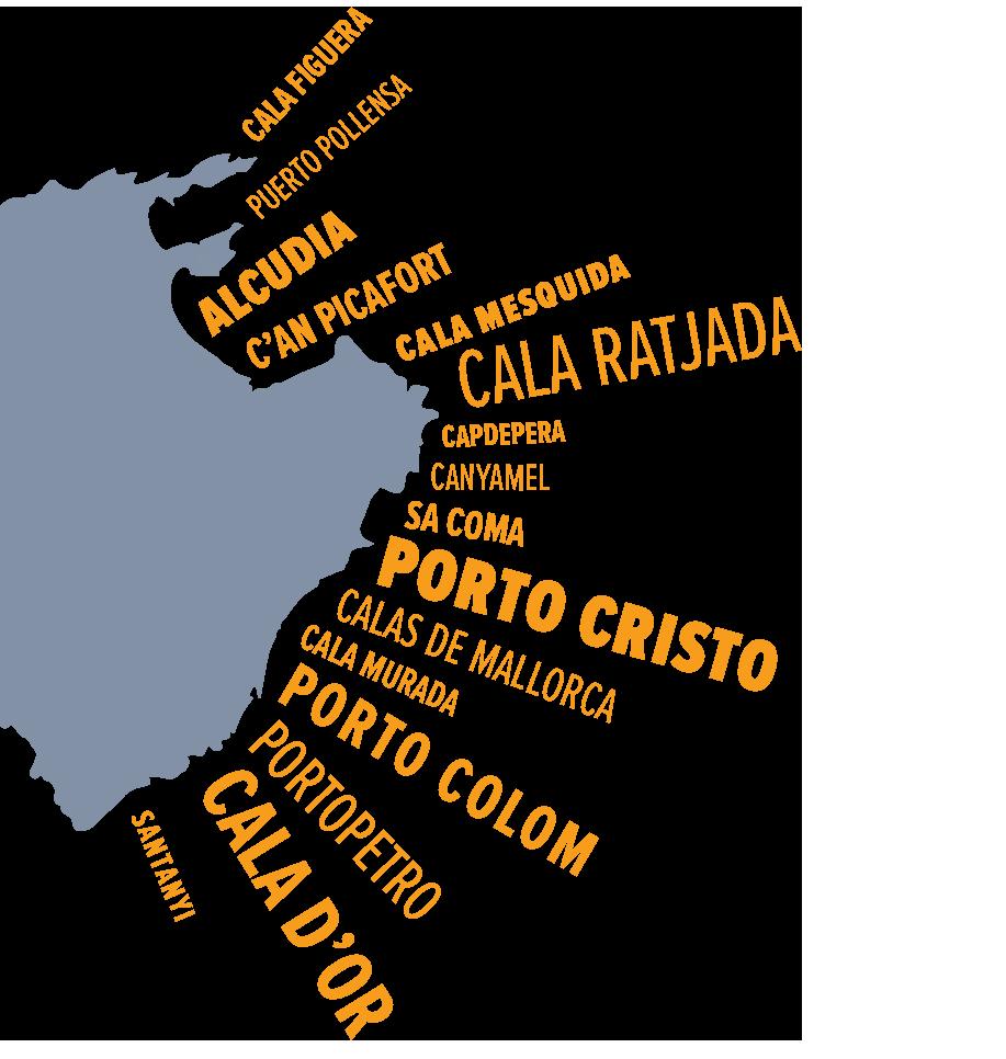 Mallorca Map West Coast